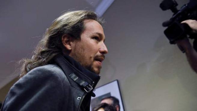 El líder de Podemos, Pablo Iglesias, a su llegada al Congreso de los Diputados en una imagen de archivo.