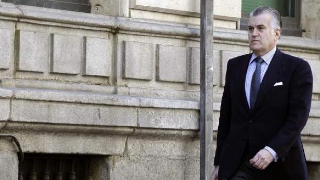 El extesorero del PP Luis Bárcenas acude a firmar a la sede de la Audiencia Nacional en la calle Prim.