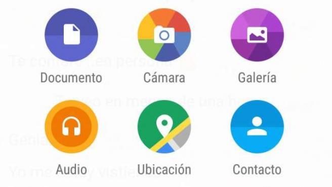 Whatsapp ha incluido la posibilidad de compartir documentos.