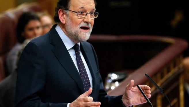 Mariano Rajoy, tras decirle a Pedro Sánchez que vota 'no' a su investidura.