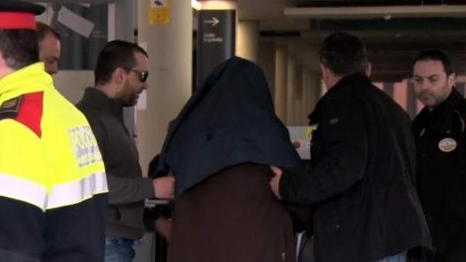 El ex profesor acusado de abusos sexuales, en la Ciutat de la Justícia.
