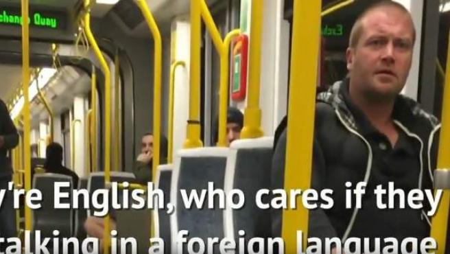 El protagonista del ataque xenófobo a una pareja española en Manchester.