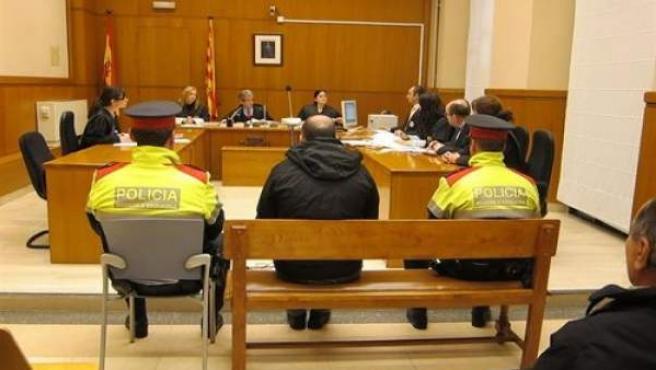 Sala de vistas de un juzgado.