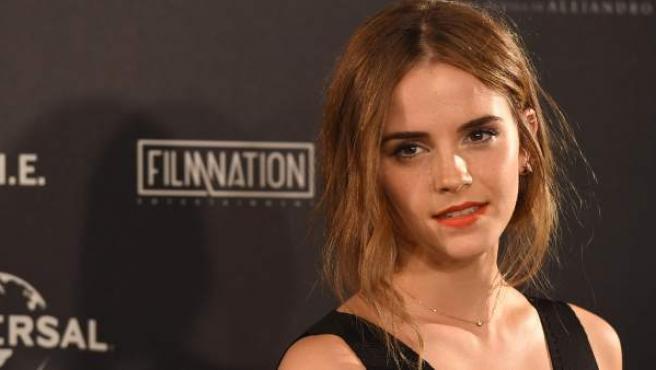 La actriz británica Emma Watson, en un acto promocional en Madrid el pasado verano.