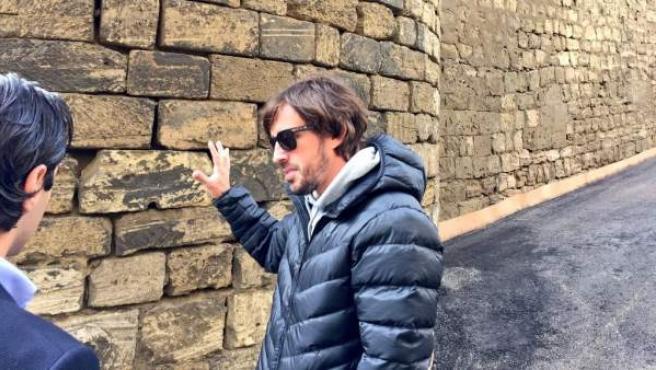 Fernando Alonso, en el circuito de Bakú.