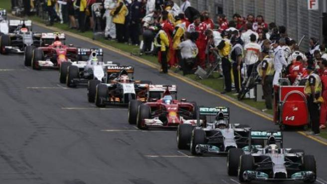 Pilotos de Fórmula 1.