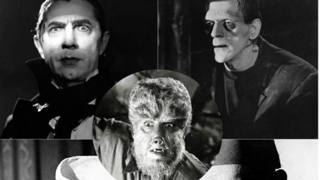 Drácula, el monstruo de Frankenstein, el hombre lobo, el hombre invisible y la momia.