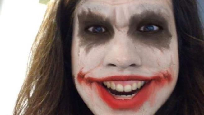 Un selfie con un filtro de Masquerade.