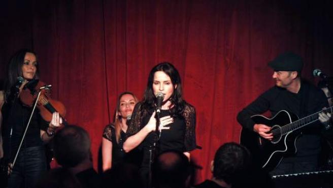 El cuarteto irlandés the Corrs en un concierto en Dublín, el pasado 24 de noviembre.