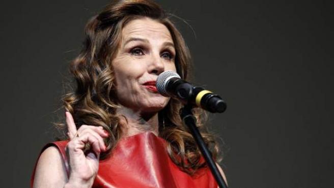 Una imagen de Victoria Abril, durante la presentación de 'Nacida para ganar'.