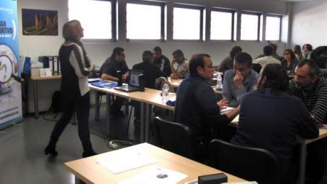 Una de las sesiones del plan formativo comarcal