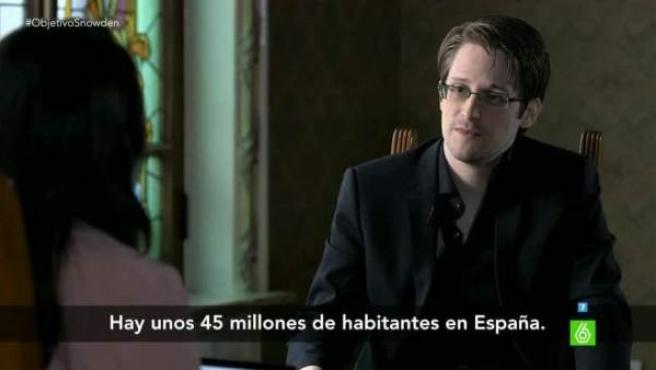 El exanalista de NSA, Edward Snowden, entrevistado en La Sexta.