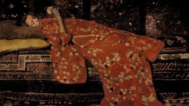 'El kimono rojo', una de las versiones sobre el mismo tema del pintor holandés George Hendrik Breitner