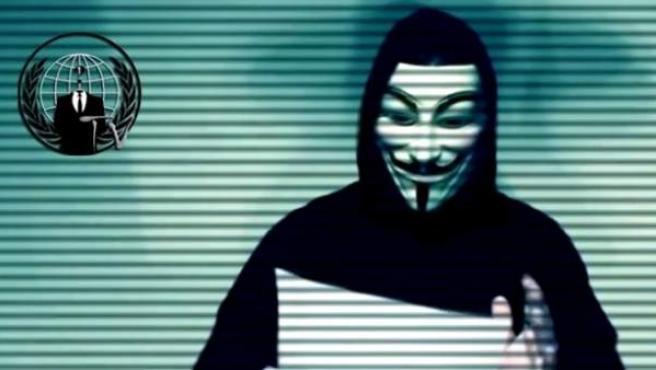 Imagen del vídeo de Anonymous.