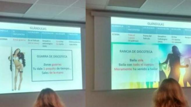 Imágenes de la polémica presentación.