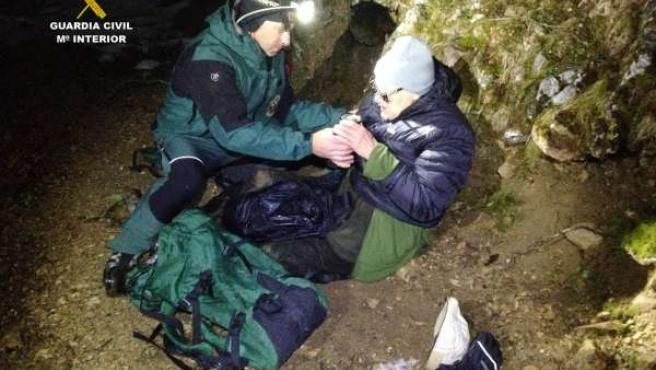 Rescate senderista 80 años en Cantabria