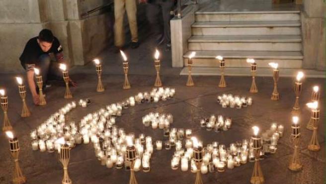Celebración de La Hora del Planeta en Sevilla