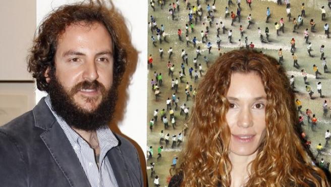 Borja Thyssen y Blanca Cuesta en la Feria ARCO 2014.