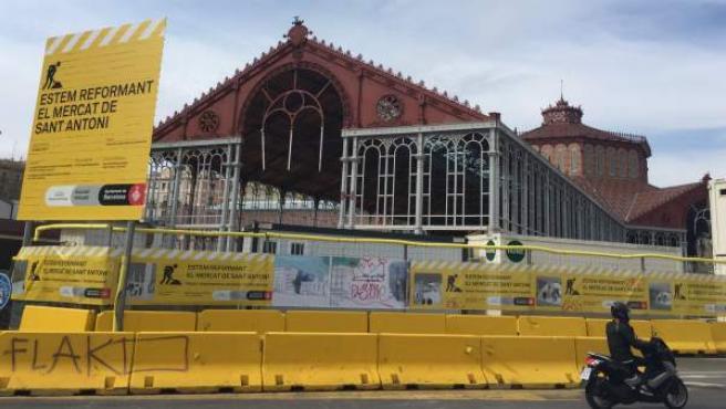 Las obras del mercado de Sant Antoni terminarán a finales de 2017.
