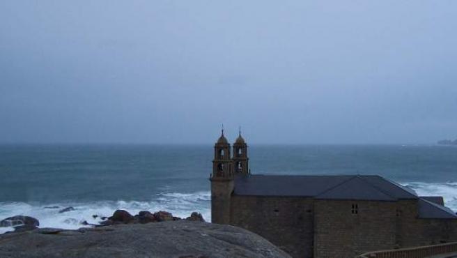 Una vista del perfil de la costa en Muxia.