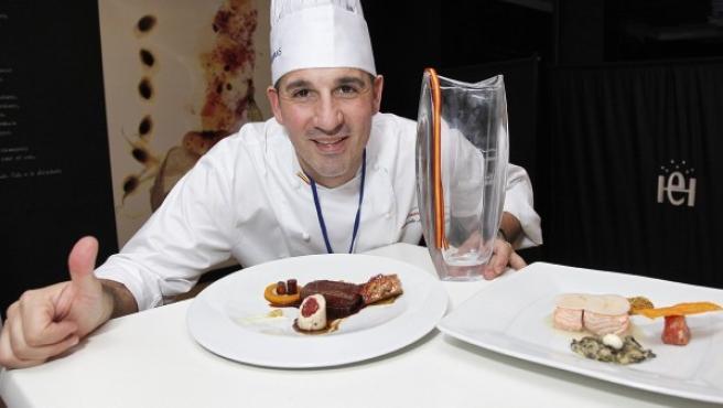 El cocinero español Alberto Moreno, candidato español al Bocuse d'Or 2014-15.