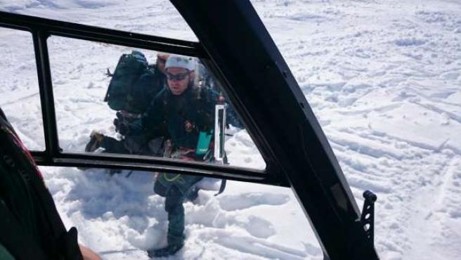 Rescate de un esquiador en el Pirineo de Huesca