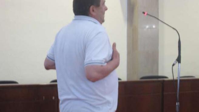 El acusado durante el juicio celebrado en la Audiencia de Jaén