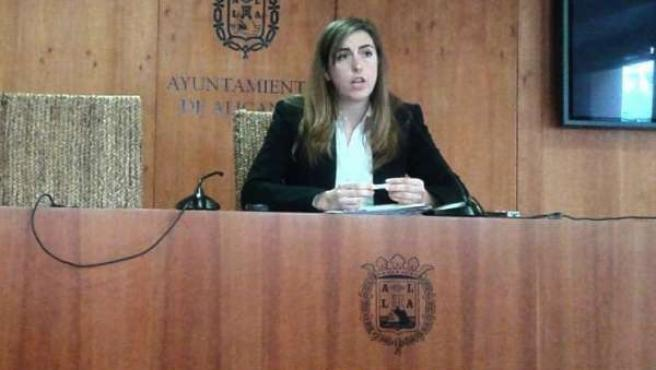 Nerea Belmonte en rueda de prensa