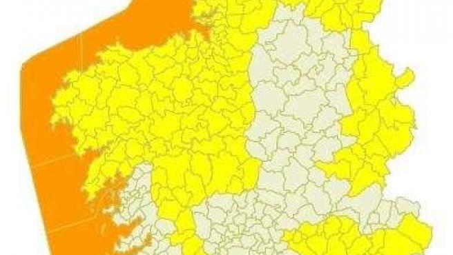 Temporal nivel naranja en la costa para el 26 de marzo Galicia