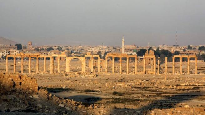 Fotografía facilitada hoy 24 de marzo de 2016 de la ciudad histórica de Palmira, en el centro de Siria, tomada el 12 de noviembre de 2010.