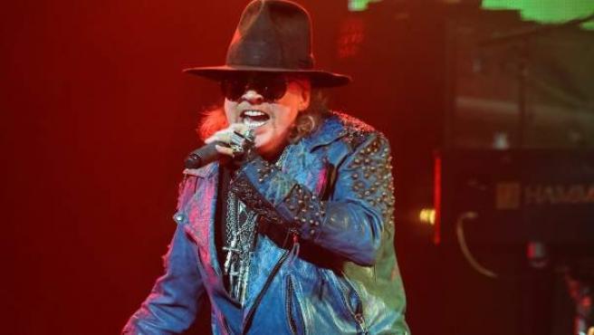 El cantante de la mítica banda Guns N' Roses, Axl Rose, en una actuación en el año 2014.