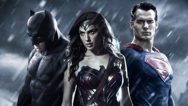 El trio de superhéroes protagonista de 'Batman v Superman: El amanecer de la justicia'