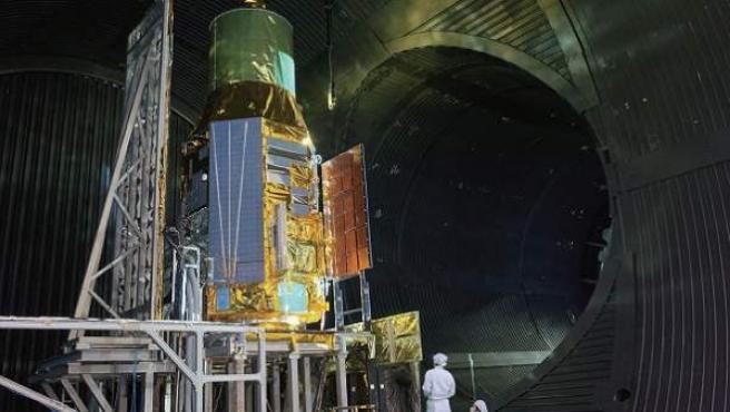El satélite japonés Astro-H, antes de su lanzamiento.