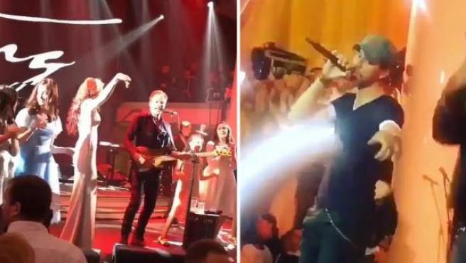 Sting, Jennifer López y Enrique Iglesias cantando en una boda rusa.