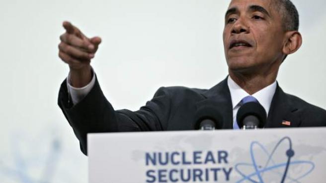 El presidente de Estados Unidos, Barack Obama, durante la Cumbre de Seguridad Nuclear en Washington.