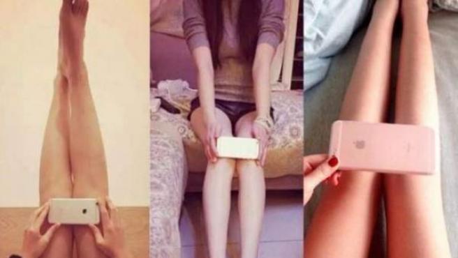 La nueva moda viral en China: tener las rodillas más estrechas que un iPhone.