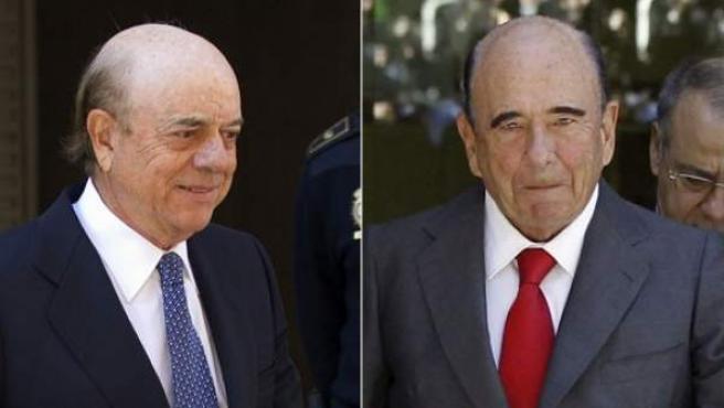 Emilio Botín y Francisco González (izquierda).