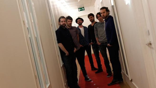 Los componentes de la banda madrileña Vetusta Morla en una entrevista para 20minutos.