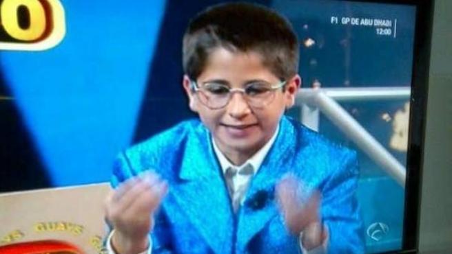 Rubén Ramírez, el pequeño imitador de los 90, en un programa de zapping de Antena 3.