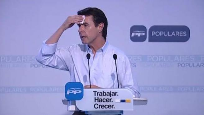El ministro de Industria y presidente del PP canario, José Manuel Soria, en un acto campaña.