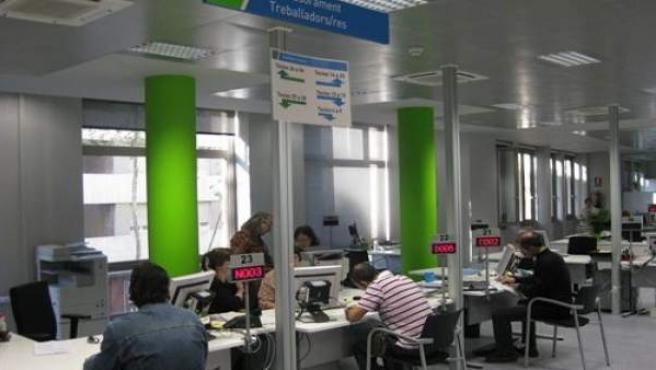 Oficina de empleo en Cataluña.