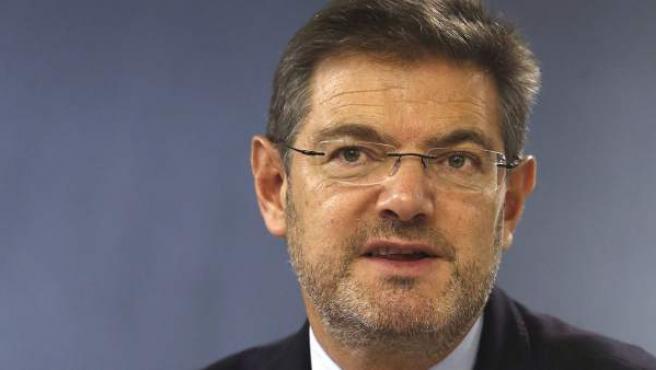 El ministro de Justicia, Rafael Catalá, durante la rueda de prensa posterior a la reunión del Consejo de Ministros.