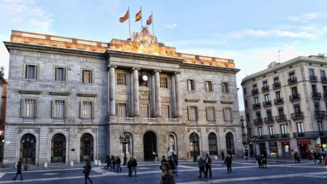 El Ayuntamiento de Barcelona, en la plaza de Sant Jaume.
