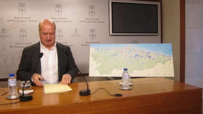 Luis Venta, durante la rueda de prensa.