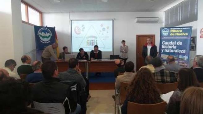 Alcaldes analizan los servicios concertables de la Diputación de Huelva.