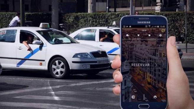 Imagen de la aplicación 'Bidupp' para coger taxis