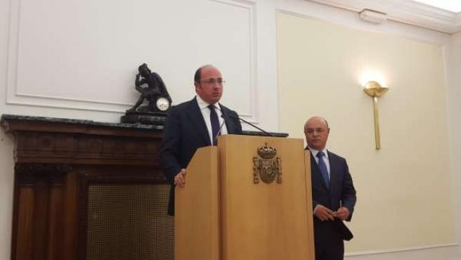 Pedro Antonio Sánchez tras reunirse con Montoro