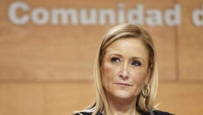 Cristina Cifuentes, la presidenta de la Comunidad de Madrid.