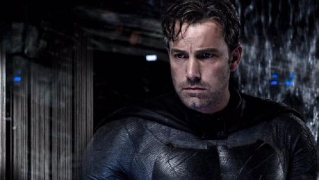 El actor Ben Affleck, caracterizado de Batman, en la última película del Caballero Oscuro.