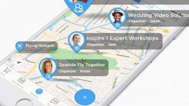 Dubbed DJI + Discover, la app que te conecta con otros usuarios de drones.